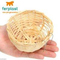 ferplast 鳥用スバコ PA4454 Φ11×6cm 小鳥の皿巣 鳥 巣箱巣材 丸巣
