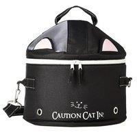 キャティーマン 猫くるりんバッグ 通院ネット付き くろにゃんこ 猫 猫用キャリーバッグ