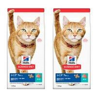 ヒルズ サイエンスダイエット キャットフード シニア 7歳以上 高齢猫用 まぐろ 1.8kg×2袋