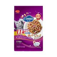 コンボ 毛玉対応 11歳以上 かつお味かつおチップかつお節 600g(120g×5袋) キャットフード 超高齢猫用 国産
