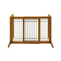 リッチェル 木製おくだけゲート ブラウン 犬ペット用 ゲート 柵 フェンス