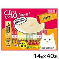 いなば CIAO(チャオ) ちゅ~る 40本 とりささみバラエティ 14g×4種×10本 キャットフード おやつ ちゅーる