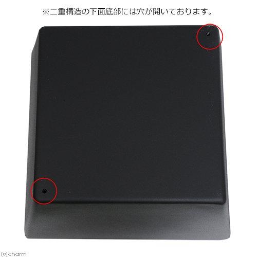 睡蓮鉢(メダカ鉢) 新型 凛 RIN 角型 ブラック S 睡蓮鉢金魚鉢メダカ鉢