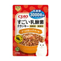 CIAO すごい乳酸菌クランキー かつお節入り チキン味 200g
