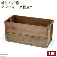 新 りんご箱 アンティーク仕立て ガーデニング DIY素材 1箱
