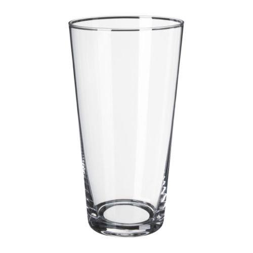 アウトレット品 花瓶 22cm クリアガラス