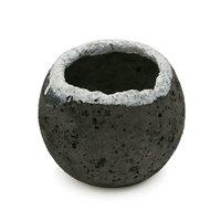 人工溶岩鉢 ボール 釉 大 直径約11cm
