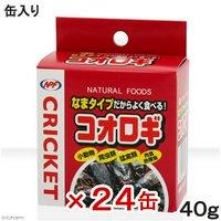 NPF コオロギ(缶入り) 40g 24缶 両生類爬虫類 ハリネズミ フード 餌 エサ 缶詰