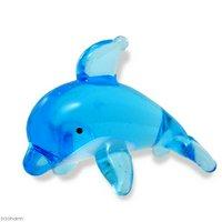 グラスコレクション プチシリーズ 「イルカA(ライトブルー)」1個