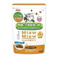 ミャウミャウ カリカリ小粒タイプ シニア猫用 かつお味 270g 6袋入り