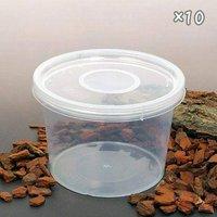 ディッシュボトル 丸型大(直径120×80mm) 穴あき フィルター付き 10個 プラケース 虫かご 観察 飼育容器