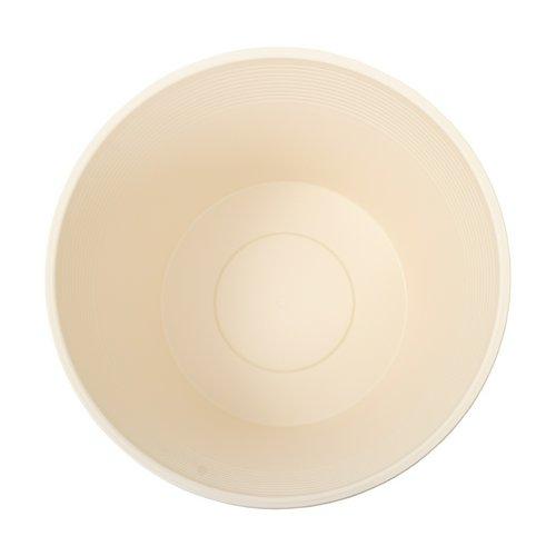 睡蓮鉢 メダカ鉢 金魚鉢 ホワイト 直径44cm 高さ25cm 軽量2kg、割れにくい、頑丈な厚み1.2cm