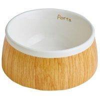 ペティオ 犬用食器 Porta 木目調 陶器食器 Mサイズ