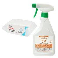 弱酸性消臭除菌水 ぺっとくりん 猫用 500ml + ワイプオール X60 ハンディーワイパー セット