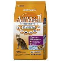 AllWell 15歳以上の腎臓の健康維持用 フィッシュ味 挽き小魚とささみフリーズドライパウダー入り 750g(375g×2袋)