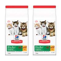 ヒルズ サイエンスダイエット キャットフード キトン 12ヶ月まで 子猫用 チキン 1.8kg×2袋