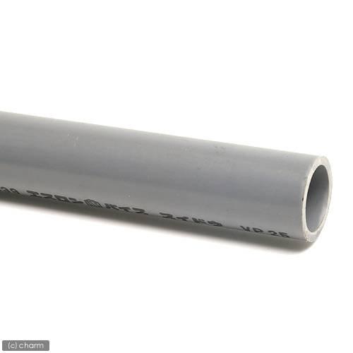 簡易梱包 塩化ビニールパイプ VP25A 1m (色:グレー)