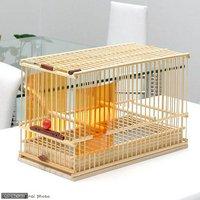 川井 KAWAI 竹カゴ 重玉 尺(145×295×190) 鳥 ケージ 鳥かご