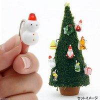 モスツリー用 ガラスオーナメント 雪ダルマ 1個 クリスマス