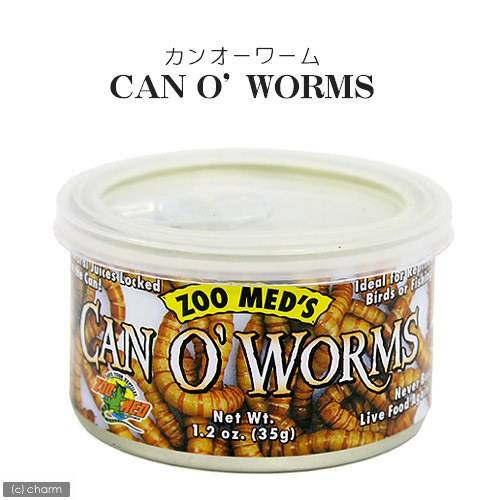 ZOOMED カン・オー ワーム CAN O WORMS 35g 爬虫類 餌 エサ 缶詰