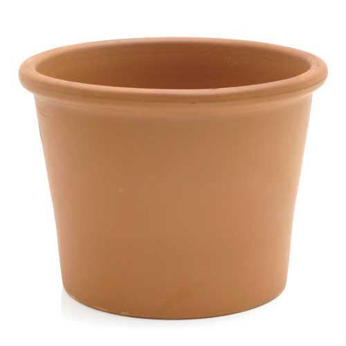 デローマ シリンダー ボルダード ブラウン 直径33cm×25cm バラ テラコッタ 鉢 お一人様4点限り