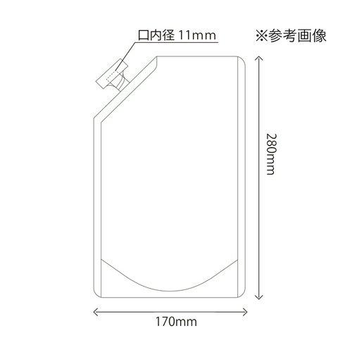 1ピースキャップ付白色スタンド袋 夢パック DPW-1000 170×280mm 1ケース600枚