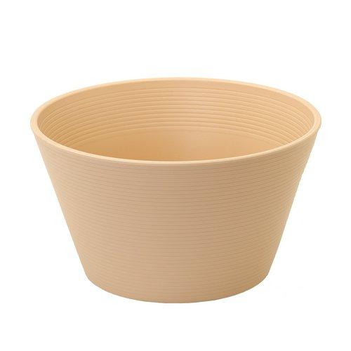 睡蓮鉢 メダカ鉢 金魚鉢 ベージュ 直径44cm 高さ25cm 軽量2kg、割れにくい、頑丈な厚み1.2cm