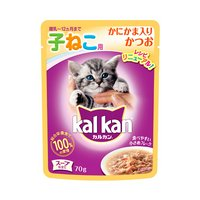 カルカン パウチ スープ仕立て 12ヶ月までの子ねこ用 かにかま入りかつお 70g キャットフード カルカン