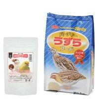 ニッパイ バーディーうずらフード1kg+鳥さんの食事昆虫食サポート ミルワームソフト30g セット