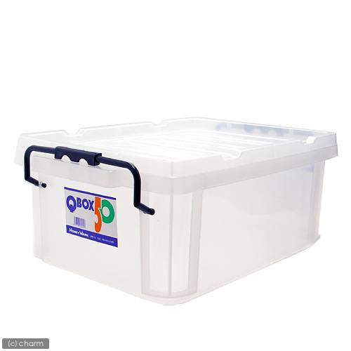 QBOX−50 (495×345×195mm) 1個 クワガタ カブトムシ 飼育ケース コンテナ ボックス 飼育 産卵 ブリード