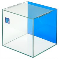 クリスタルキューブ300(30×30×30cm)バックスクリーン(クリアブルー)貼付済み 30cm水槽