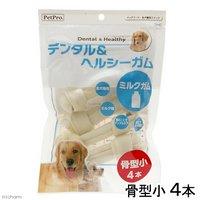 ペットプロ デンタル&ヘルシーガム ミルクガム骨型小 4本 犬フード おやつ