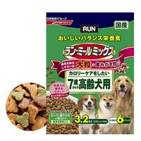 ラン・ミールミックス 大粒の歯みがき粉入り カロリーケアをしたい7歳からの高齢犬用 3.2kg(小分け6パック) ドッグフード