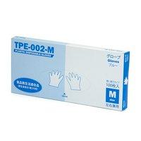 手にフィットするストレッチ使い捨て手袋 M ブルー 100枚入 使い捨てTPE手袋 食品衛生法適合品