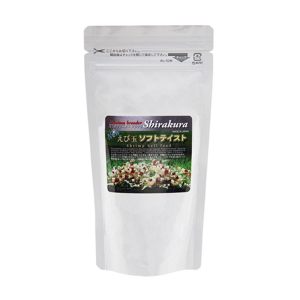 シラクラ エビ玉ソフトテイスト 80g(大) ビーシュリンプ エサ 餌