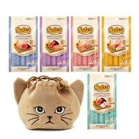 猫巾着おまけ付 アソート ニュートロ とろけるおまけシリーズ 5種各1袋