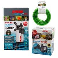 エーハイム リーフレックス UV350 + 60Hz コンパクトオン 600 水中ポンプセット (西日本用)