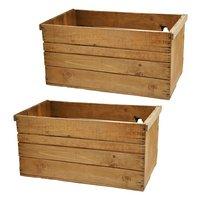 青森県産りんご箱 アンティーク仕立て 訳あり 2箱セット お一人様1点