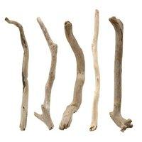 形状おまかせ 棒状流木 ショート 5本セット DIY素材 インテリア用