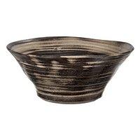 国産 手作り睡蓮鉢 益子焼 彩(SAI) 渦潮 炭化 直径約50cm ビオトープ