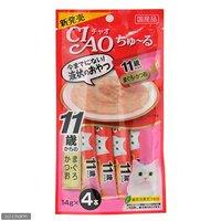 いなば CIAO(チャオ) ちゅ~る 11歳からのまぐろかつお 14g×4本 猫 おやつ CIAO チャオ 超高齢猫用 ちゅーる