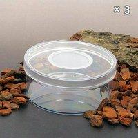 ディッシュボトル 丸型小(直径100×40mm) 穴あき フィルター付き 3個 プラケース 虫かご 観察 飼育容器