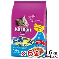 カルカン ドライ 肥満が気になる猫用 毛玉ケア まぐろと野菜味 1.6kg(小分けパック4袋入) 6袋