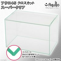 45cm水槽(単体)クロスカット スーパークリア アクロ45X(45×27×30cm)オールガラス水槽Aqullo Xcut