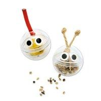 インコ用フォージングトイ コロコロボール 2個入 ちょんまげ&しょっかく 色おまかせ バードトイ 知育 おもちゃ