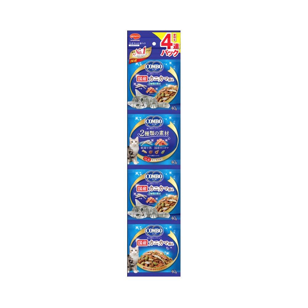コンボ連パック 海の味わいメニュー カニカマ添え 160g(40g×4連) お買い得10個セット キャットフード 国産