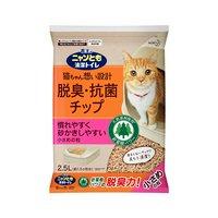 猫砂  ニャンとも清潔トイレ 脱臭抗菌チップ 小さめの粒 2.5L 6袋入【nyankitto15】