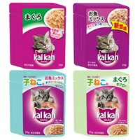 子猫から成猫へ切り替えセット カルカンパウチ4種各8袋(12ヶ月までの子ねこ用2種+成猫用2種)