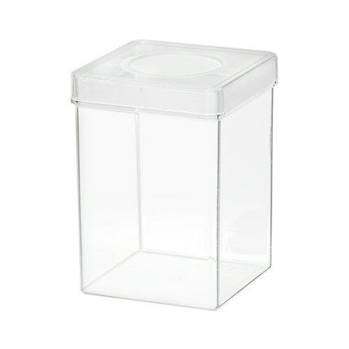 ディッシュボトル 角型(72×72×100mm) 穴あき フィルター付き 1個 昆虫 カブトムシ クワガタ プラケース 飼育容器 ペアリング