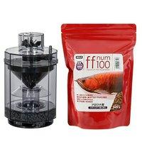 ff num100アロワナ用スティック(浮上性)300g+アクア工房フィッシュレット(フィルター)セット